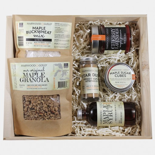 Harwood Gold Maple Brunch Gift Box - FREE SHIPPING