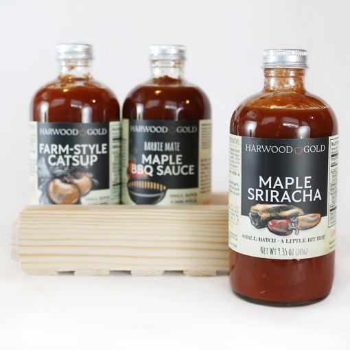 Harwood Gold Maple Sauces Tasting Flight