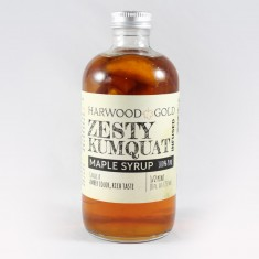 Harwood Gold Zesty Kumquat Infused Maple Syrup