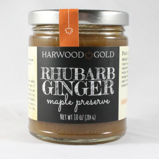 Harwood Gold Rhubarb Ginger Maple Preserve
