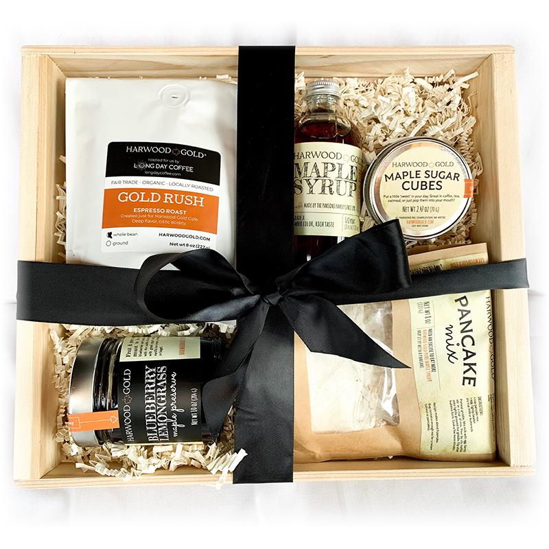 Harwood Gold Maple Breakfast Gift Box